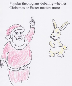 Santa vs. bunny