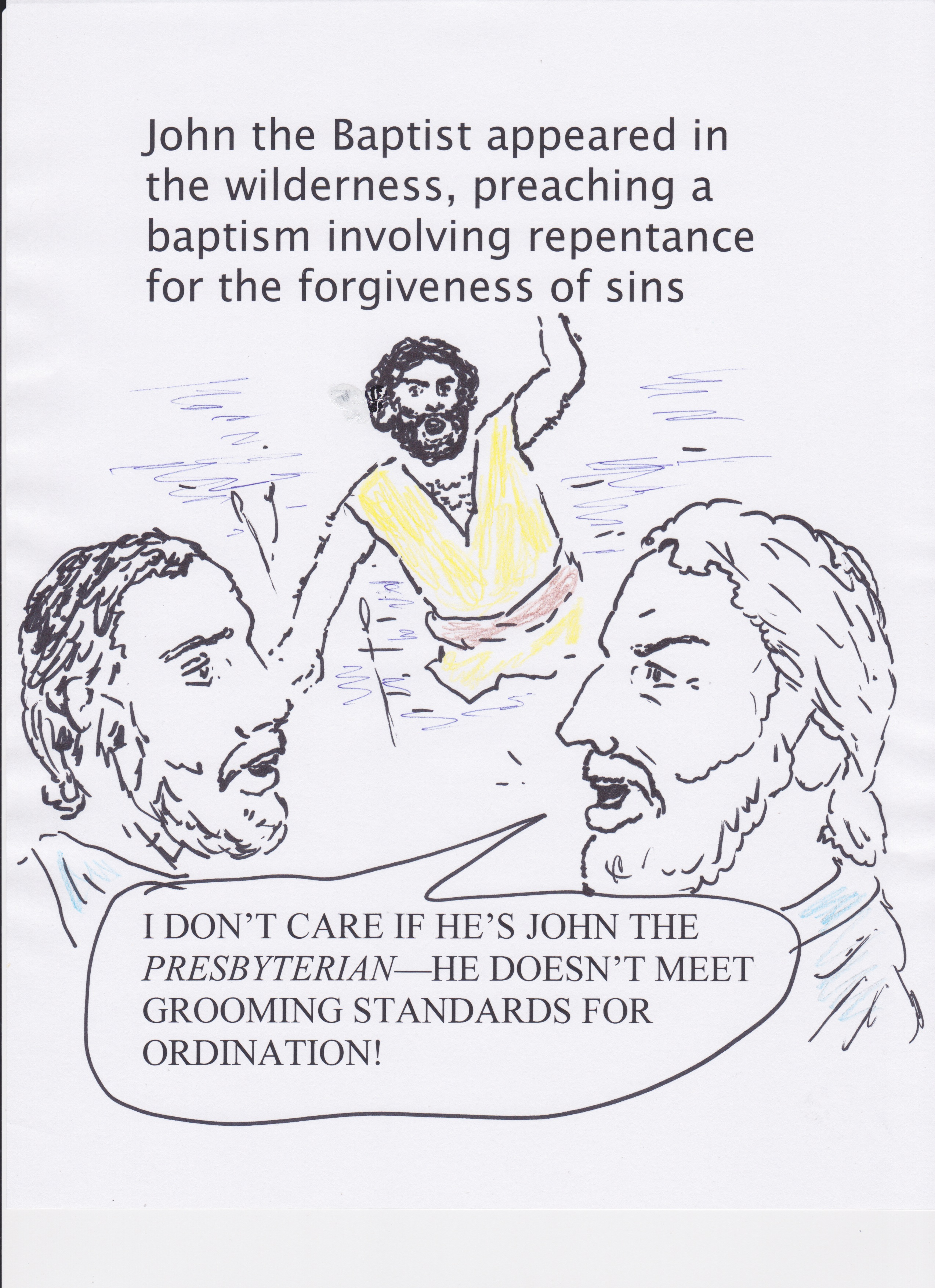 grooming standards for ordination cartoon bible background