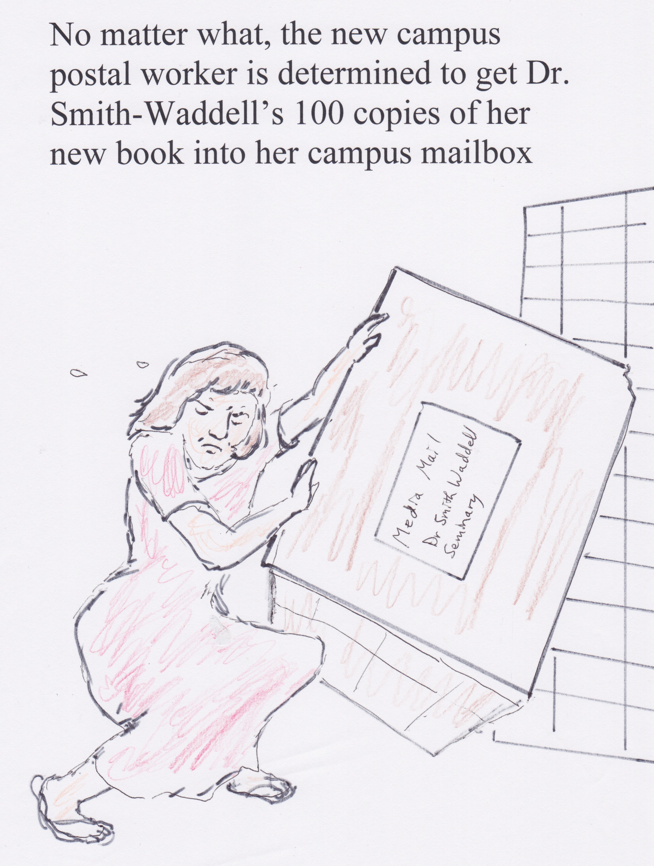 Campus Post Office Cramming Cartoon Bible Background